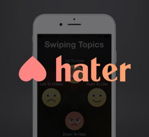 Technology article about Hater - the dating app for haters