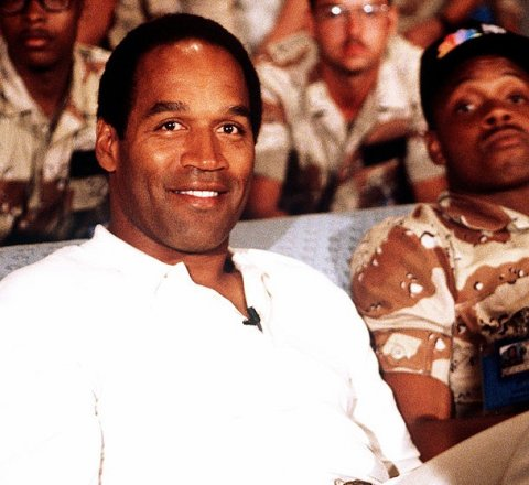 Sport article about OJ Simpson getting out of jail