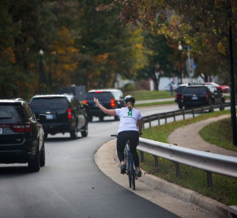 Breaking-News article about Virginias famous middle-finger-cyclist just got fired