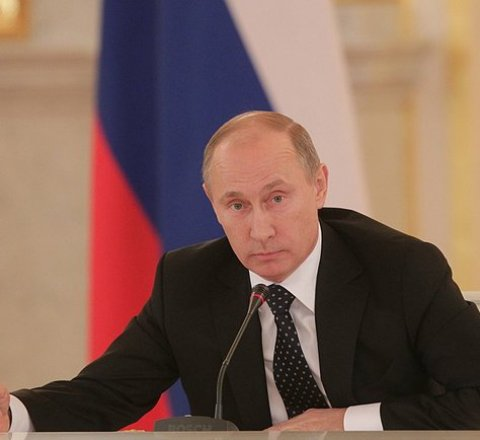Politics article about putin declares himself president for fourth term