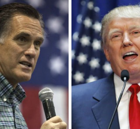 Breaking-News article about Trump endorses romney