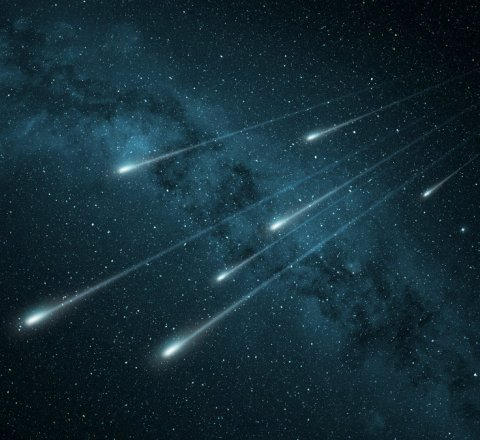 Science article about first artificial meteor shower