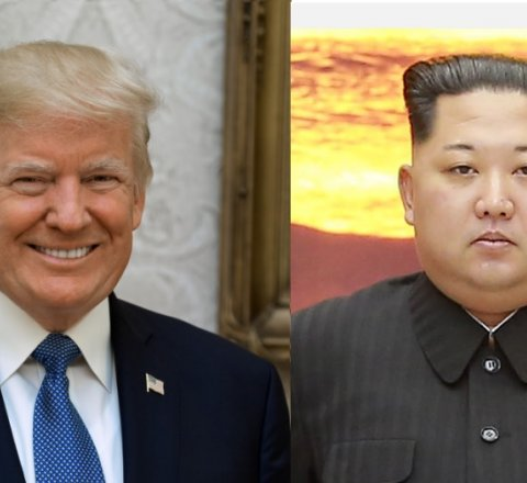 Breaking-News article about trump meets kim