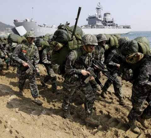 Breaking-News article about united states and south korea cancel military exercises