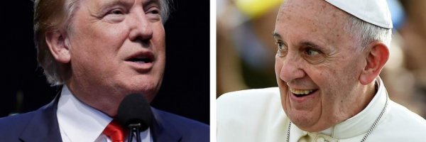 article about Pope Francis warns about Trump