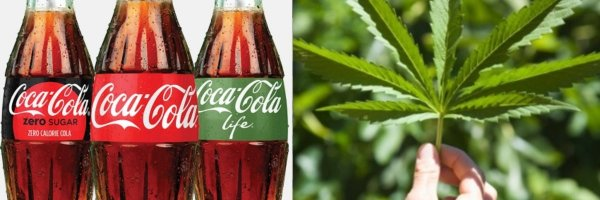 article about Coca-Cola is looking into weed